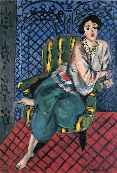 Woman sitting in a chair, 1926 - Henri Matisse
