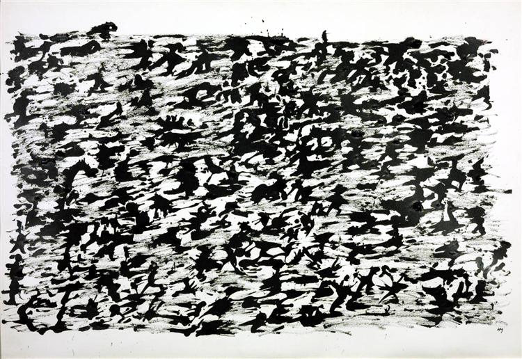 Untitled Chinese Ink Drawing, 1961 - Henri Michaux