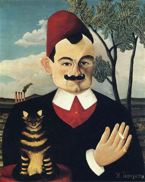 Portrait of Pierre Loti, c.1891 - Henri Rousseau