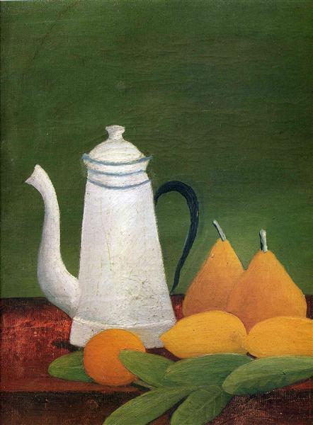 Still life with teapot and fruit, c.1910 - Henri Rousseau