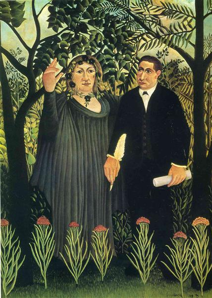 The Muse Inspiring the Poet, 1908-1909 - Henri Rousseau