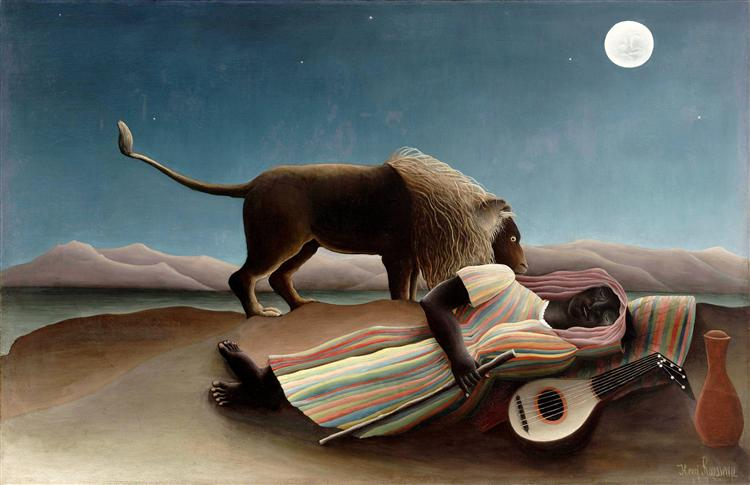 The Sleeping Gypsy, 1897 - Henri Rousseau