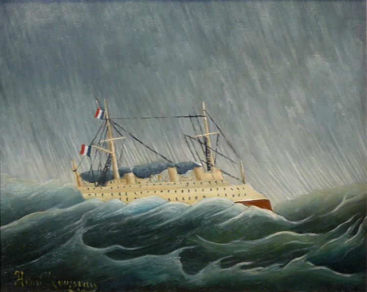 The storm tossed vessel, c.1899 - Henri Rousseau