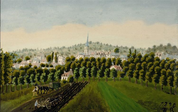ViewofBottomandMeudonBillancourt, 1890 - Henri Rousseau