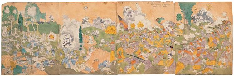 2 At Cederine She Witnesses a Frightful Slaughter of Officers - Henry Darger