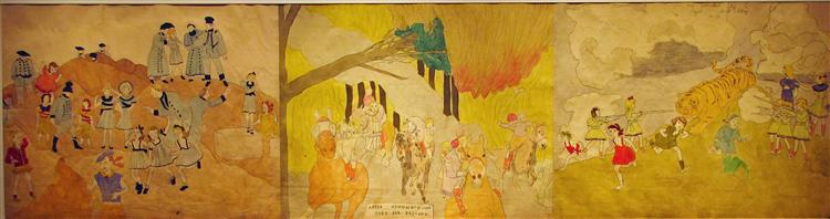 After Osmondonson they are rescued - Henry Darger