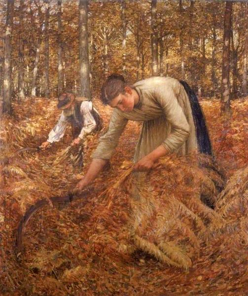 Gathering Bracken, 1899 - Henry Herbert La Thangue