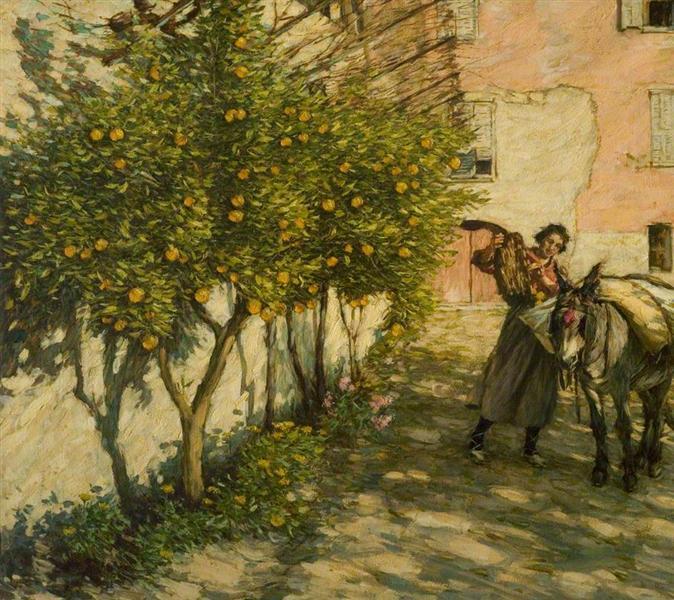 Gathering Oranges, 1929 - Henry Herbert La Thangue