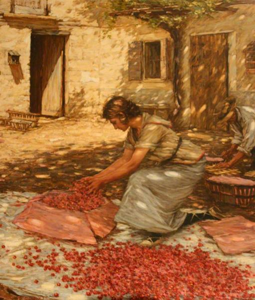 Packing Cherries in Provence, France, 1923 - Henry Herbert La Thangue