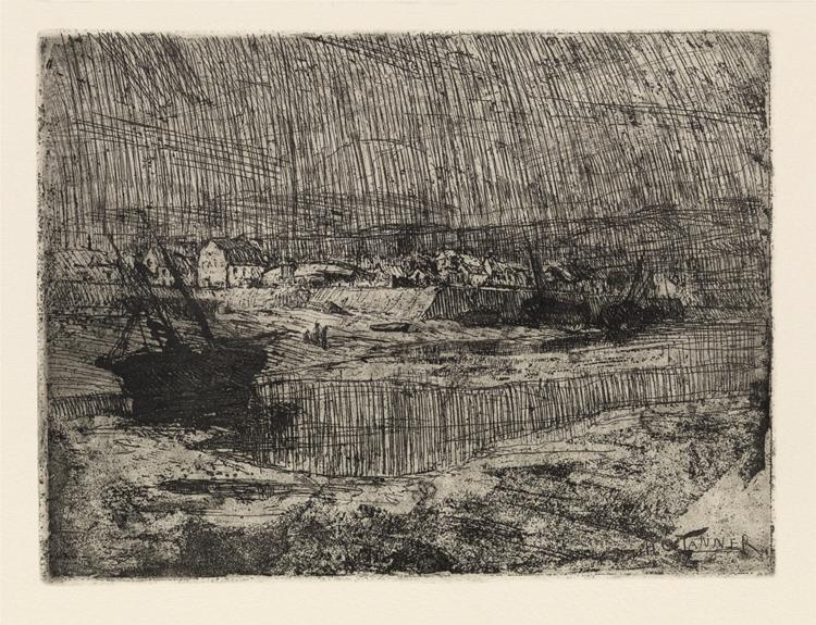 Fishing Boats at Shore, Brittany, 1915 - Henry Ossawa Tanner