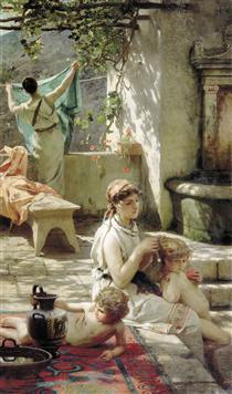 By a Pool - Henryk Siemiradzki