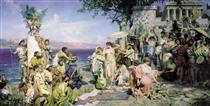 Phryne on the Poseidon's celebration in Eleusis - Henryk Siemiradzki