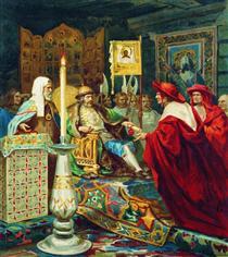 Prince Alexander Nevsky Receiving Papal Legates - Henryk Siemiradzki