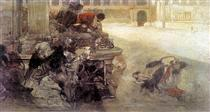 The Sketch of Christian Dirce - Henryk Siemiradzki