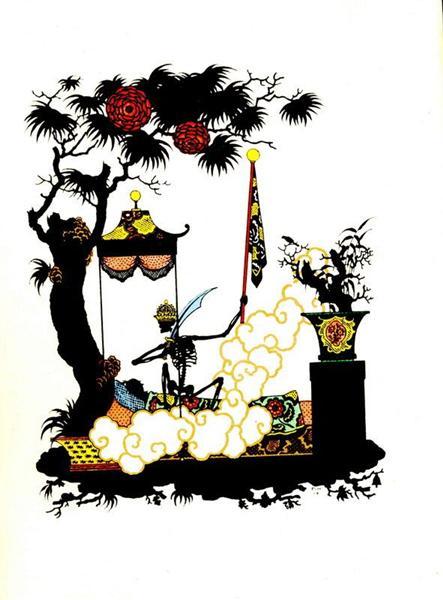 Ілюстрація до казки «Соловей» Ганса Крістіана Андерсена - Георгій Нарбут