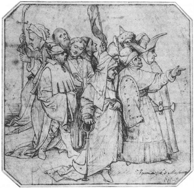 Group of Male Figures - Hieronymus Bosch