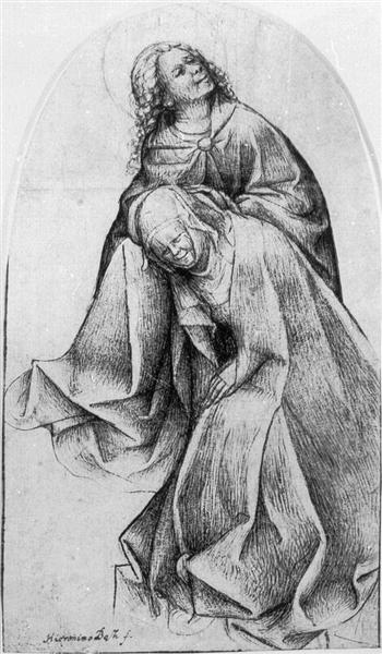 Mary and John (Mary and John at the Foot of the Cross), 1465 - 1516 - Hieronymus Bosch
