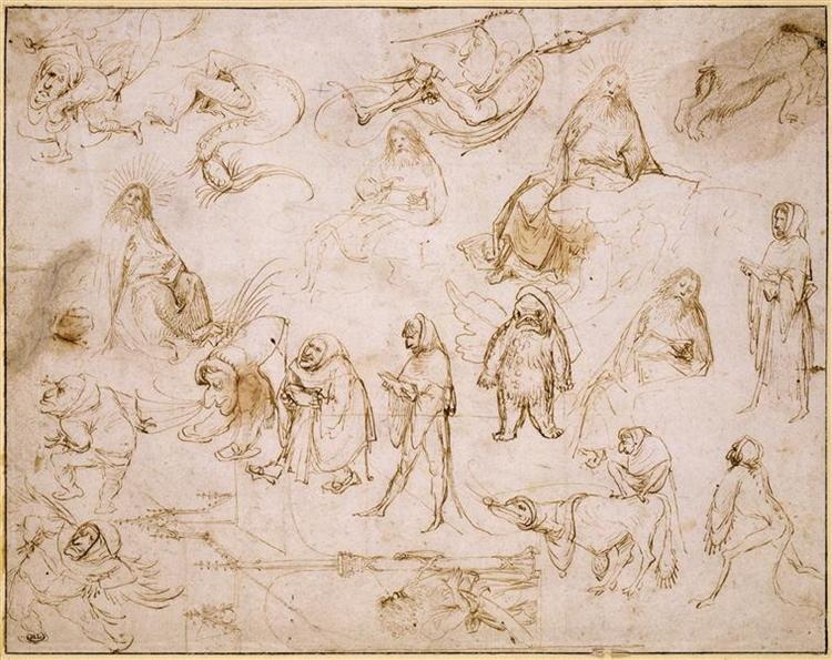 Sketches for a Temptation of St. Anthony - Hieronymus Bosch