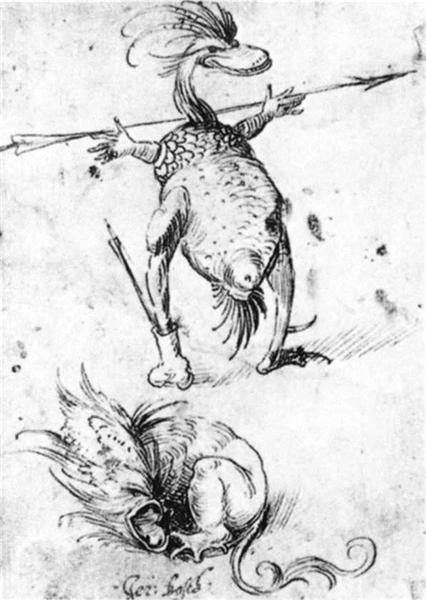 Two Monsters - Hieronymus Bosch