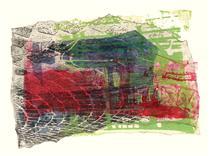 'Cobble-stones, mixed' - mono-print collage, 2007; artist Hilly van Eerten - Hilly van Eerten