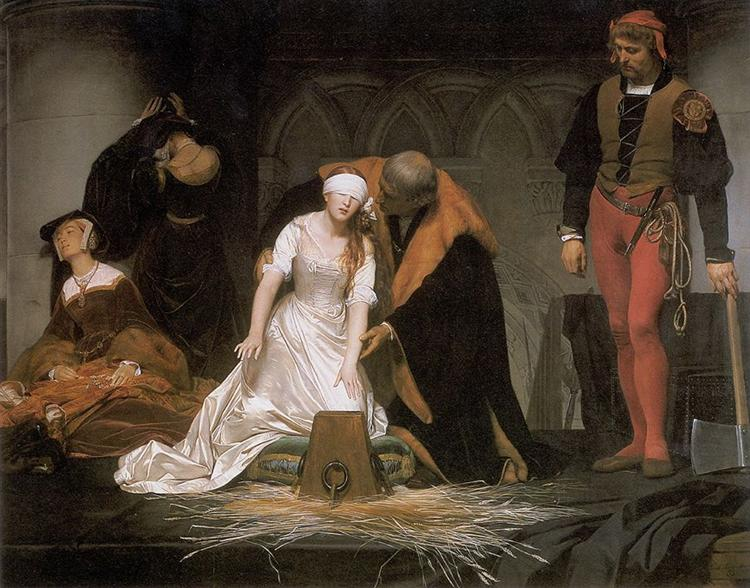 The Execution of Lady Jane Grey, 1833 - Paul Delaroche
