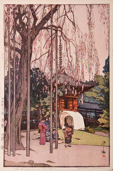 The Cherry Tree in Kawagoe, 1935 - Хиросі Єсида