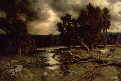Near the Close of a Stormy Day, 1884 - Homer Watson