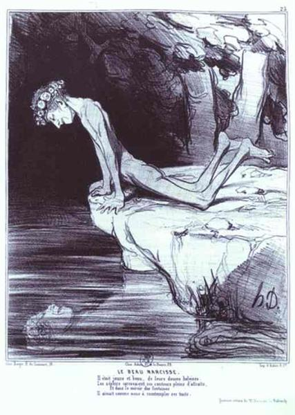 The Beautiful Narcissus, 1842 - Honoré Daumier