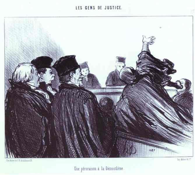 The Conclusion of a Speech à la Demosthene, 1848 - Оноре Дом'є