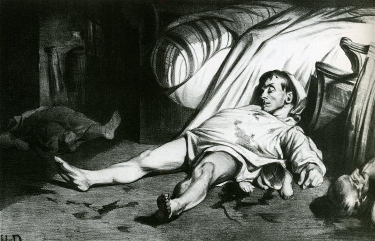 Transnonain Street - Honore Daumier