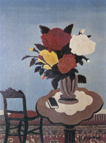 Roses With Red Chair, 1940