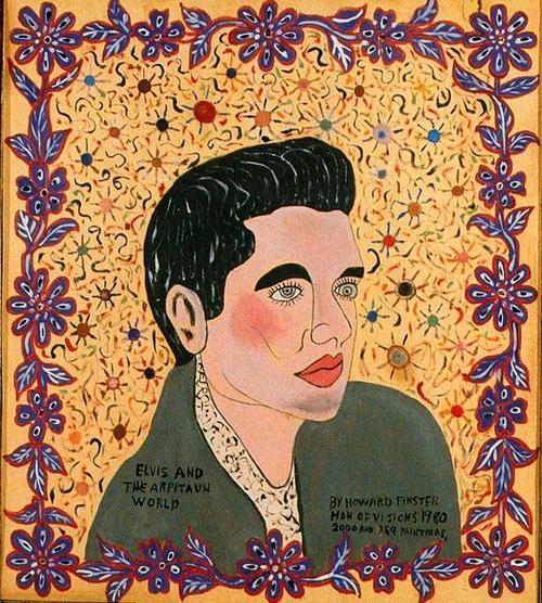 Elvis And The Arpitaun World, 1980 - Howard Finster