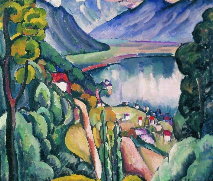 Lake Geneva, 1914 - Ilya Mashkov
