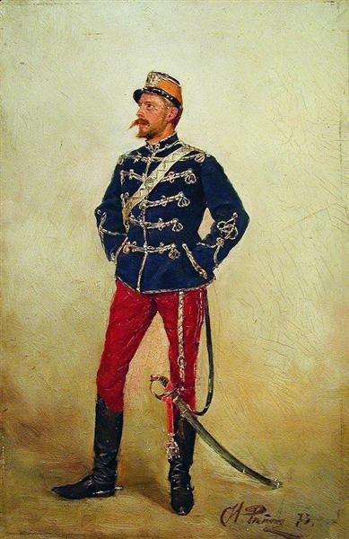 A young man in military uniform, 1873 - Ilya Repin