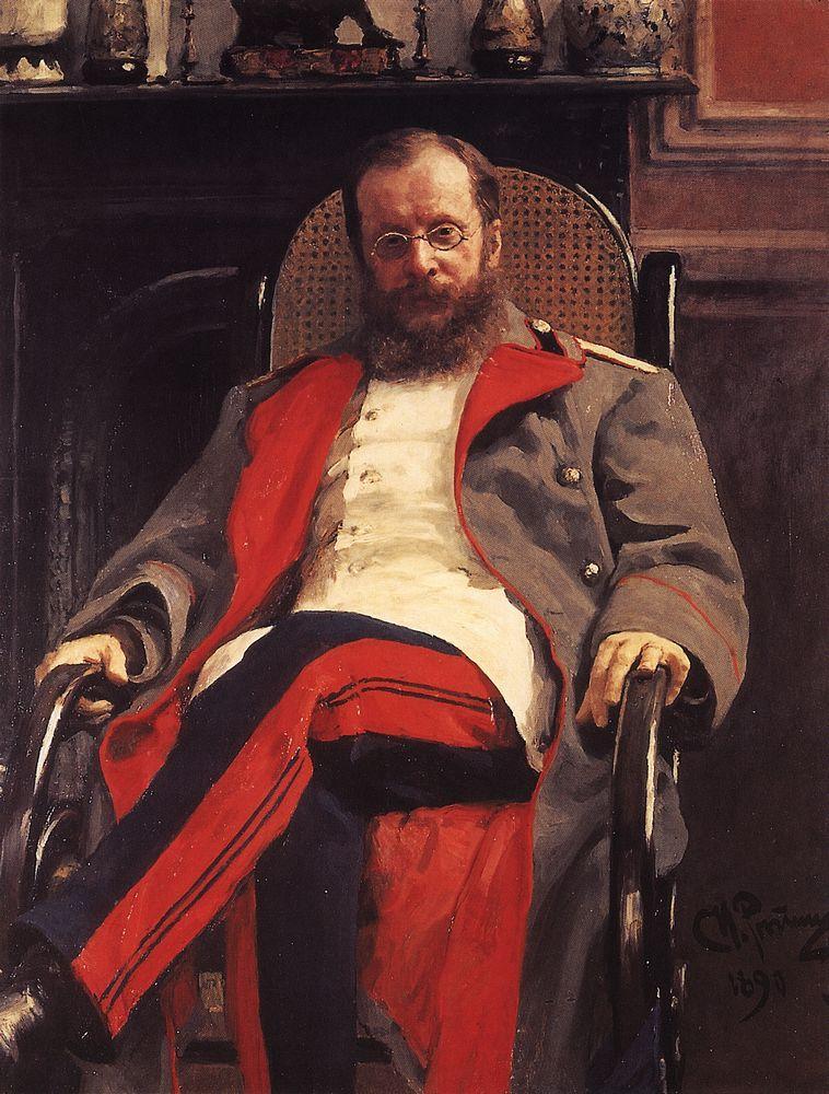 Portrait of Composer Cesar Antonovich Cui, 1890