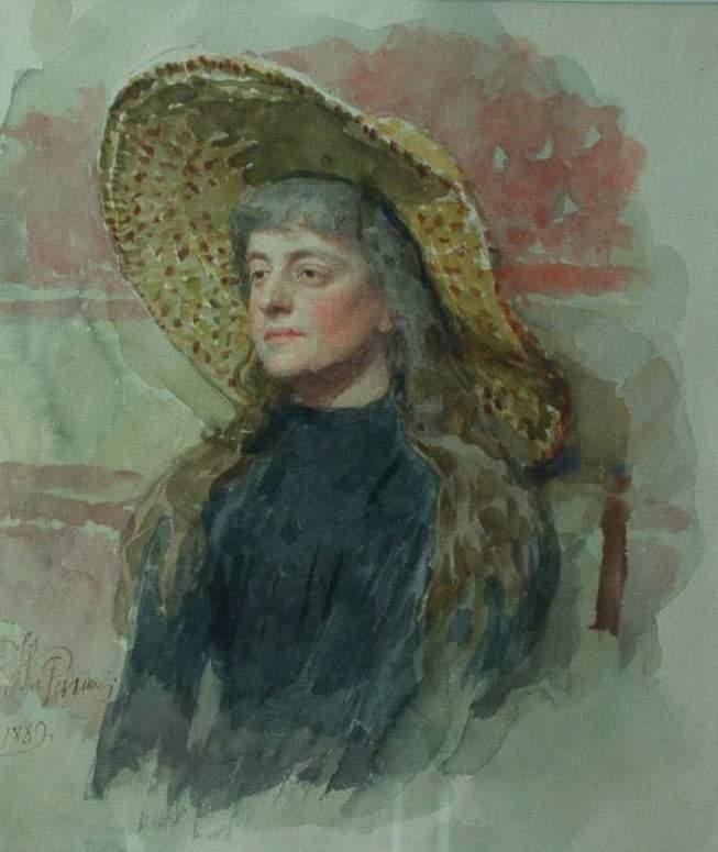 Portrait of E. Zvantseva, 1889