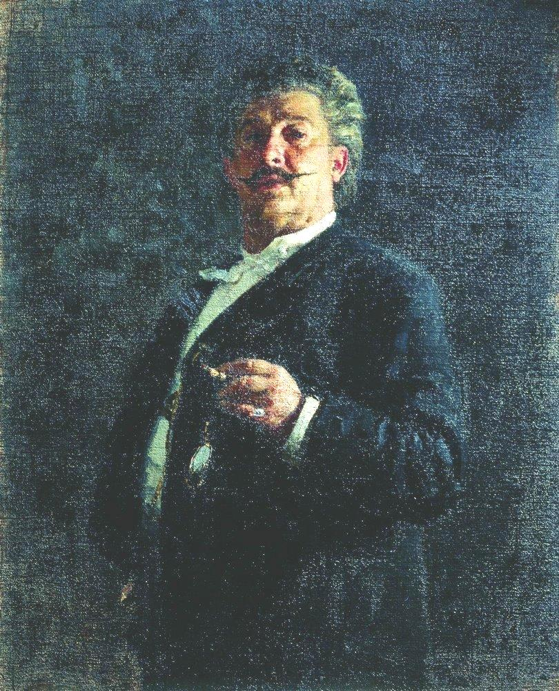 Portrait of painter and sculptor Mikhail Osipovich Mikeshin, 1888