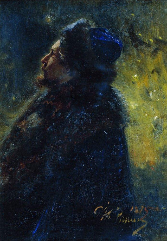Portrait of painter Viktor Mikhailovich Vasnetsov. Study ...