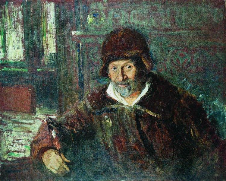 Автопортрет, 1920 - Илья Репин