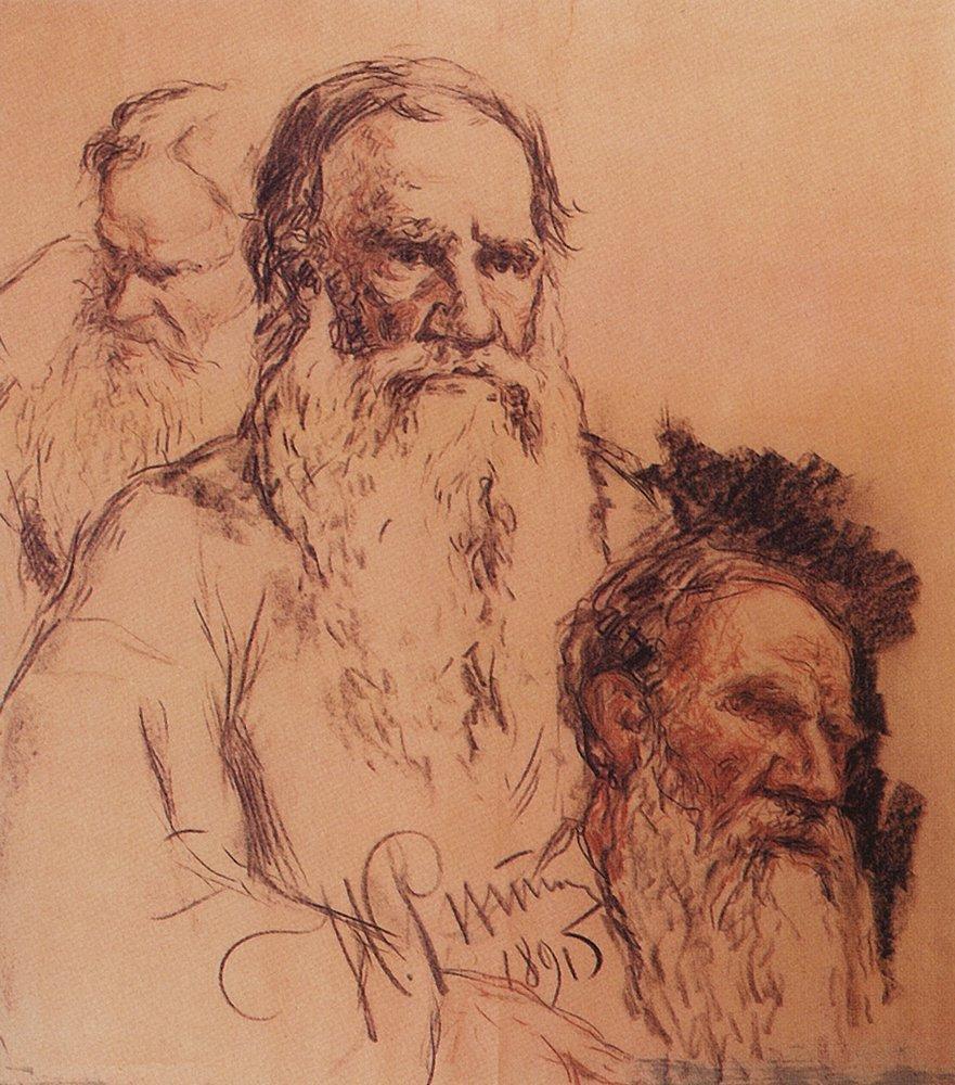 Sketches of Leo Tolstoy, 1891