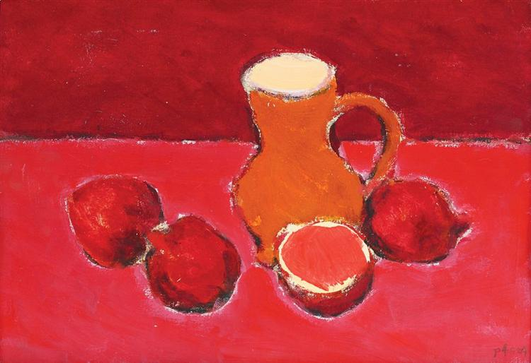 Still Life With Pomegranates - Ion Pacea