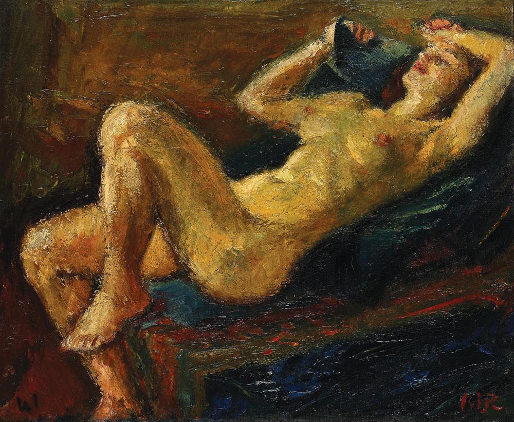 Laid Back Nude, 1941