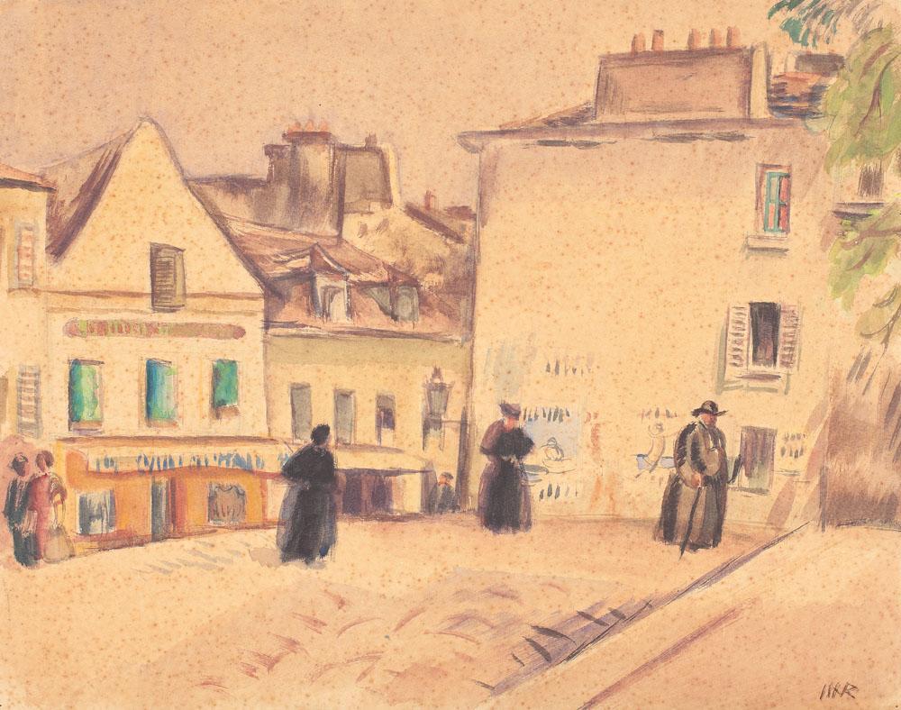 Plaza in Montmartre