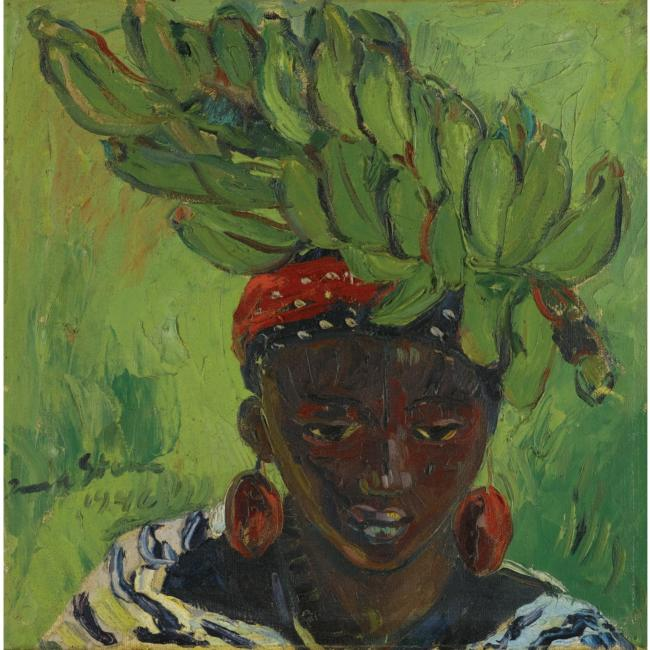Irma Stern The Hunt Banana Carrier Irma Stern