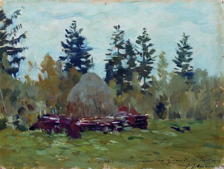 A haystack, 1894 - Isaak Iljitsch Lewitan