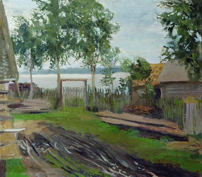 A yard - Isaac Levitan
