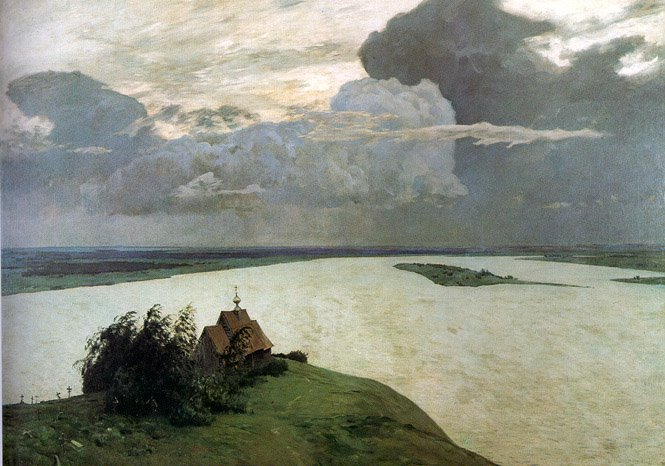 Above the eternal tranquility, 1894 - Isaac Levitan