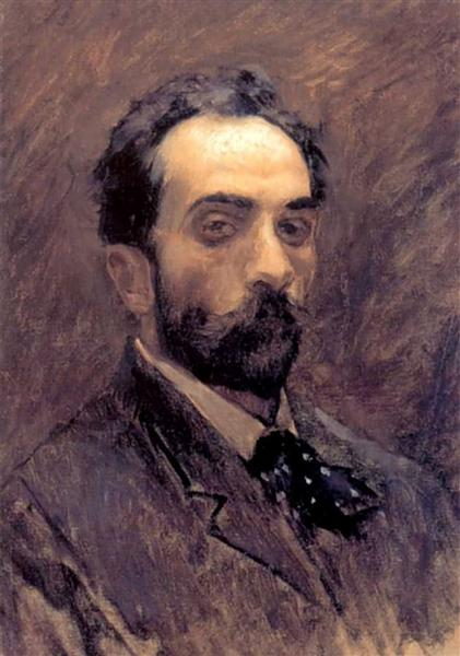 Self portrait, c.1896 - Isaac Levitan
