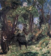Forest Scene with Colt - Иштван Илошваи Варга