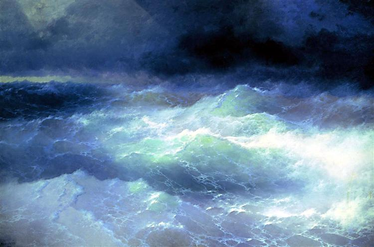 Between the waves, 1898 - Ivan Aivazovsky